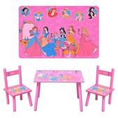Детский столик со стульчиками Принцессы
