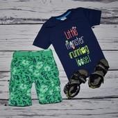 Фирменная футболка стильному мальчику 4 - 5 лет 110 см с крутыми надписями