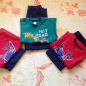 Пижамы для мальчиков на 3-5лет Lupilu