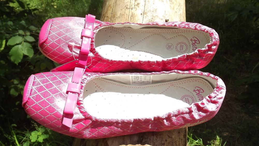 Туфли балетки barbie кожа внутри 25,26,27,28 размер фото №2