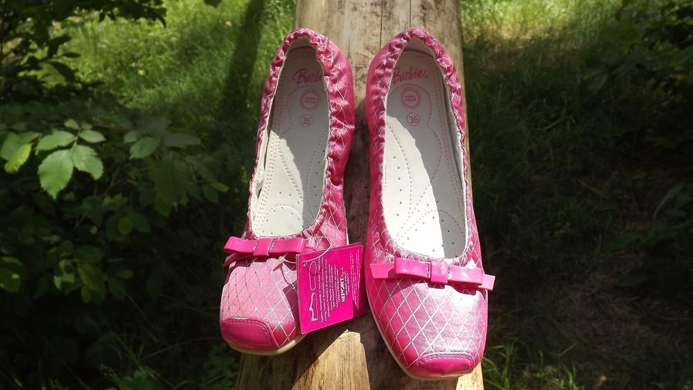 Туфли балетки barbie кожа внутри 25,26,27,28 размер фото №3