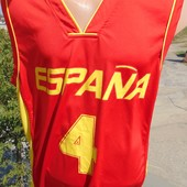 Фирменная спортивная баскетбольная майка Supporter Испания .л-хл .