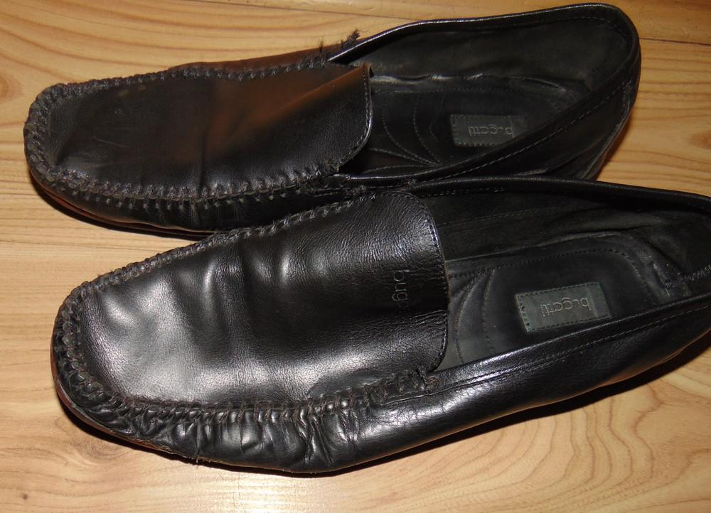 Фирмовые стильные брендовые кожаные туфли bugatti.43 фото №1