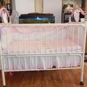 Кроватка детская металическая