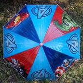 Зонт детский, синий Халк