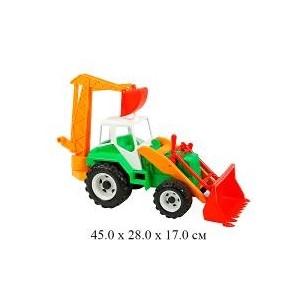 Трактор экскаватор универсал , 68x28,5x31 см фото №1