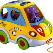 Автошка музыкальная машинка сортер 9198