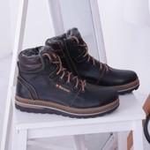 Мужские зимние кожаные ботинки, 3 цвета