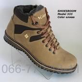 Зимние мужские ботинки из натуральной кожи
