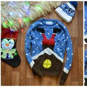 Мужской новогодний свитер Cedar Wood,р-р М