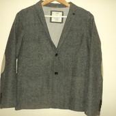 Пиджак, блейзер серый с налокотниками zara boys 13,14 лет 164 см