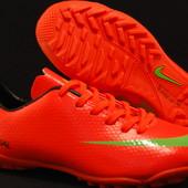 Сороконожки Nike Mercurial,красные,36-44 размер