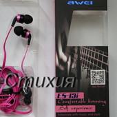 Наушники Awei ES-13i .Отличное качество звука