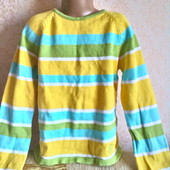 Яркий хлопковый свитерок на 10 -11 лет ( 152)