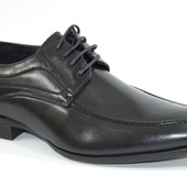 Мужские туфли черные классические на шнурках