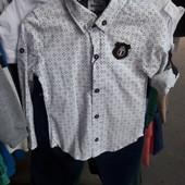 Рубашка фирменная есть размер на 86 92 и 98 рост