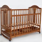 Laska Наполеон New детская кроватка с ящиком и качалкой