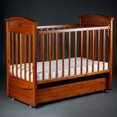 Laska Наполеон Vip детская кроватка на маятнике с ящиком