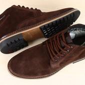Туфли мужские замшевые зимние