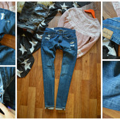 Рваные джинсы-бойфренды,р-р ХС