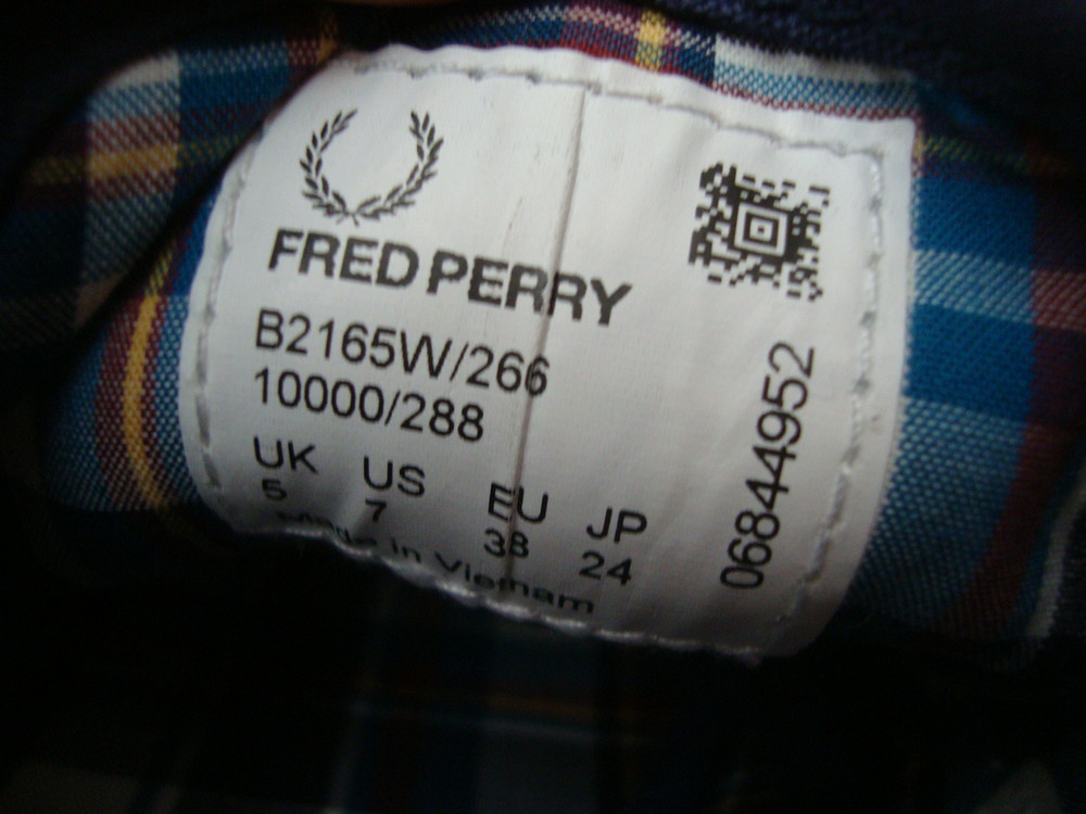 Кеды fred perry оригинал 37-38 размер фото №8