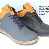 Ботинки кожаные мужские,зима, 2 цвета