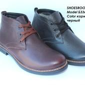 Мужские кожаные ботинки, зима, антилед