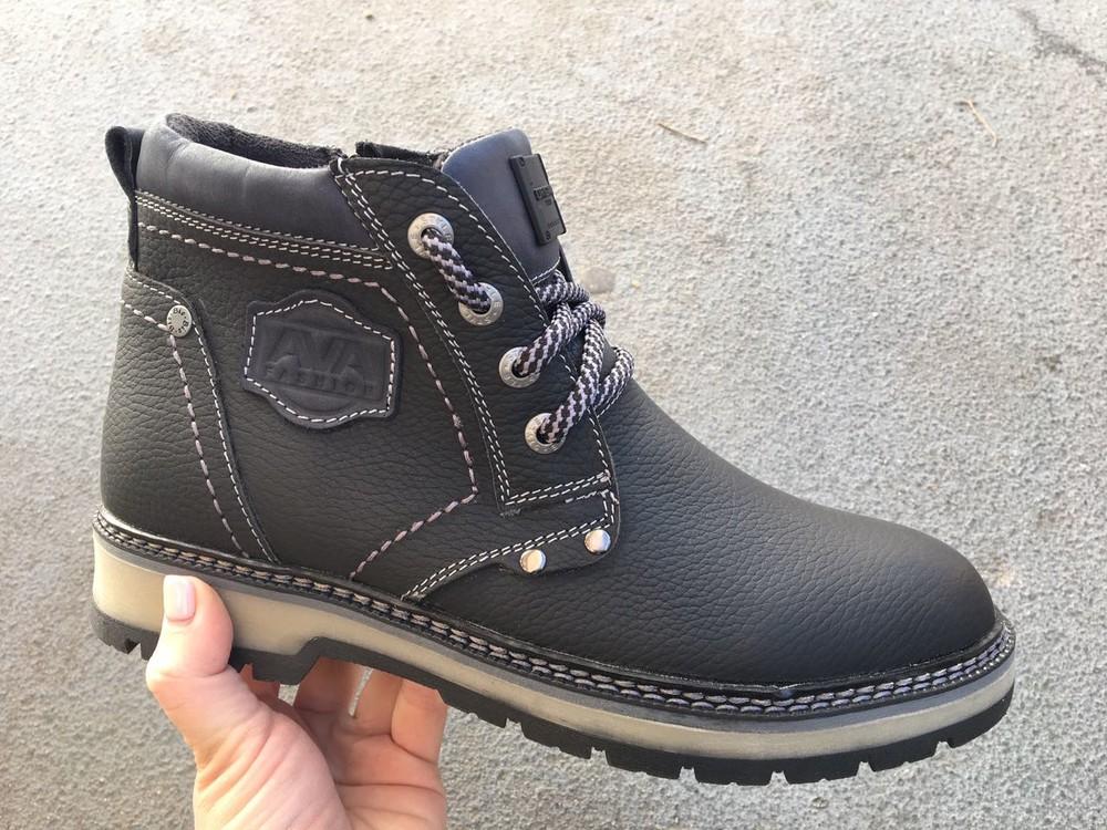 Мужские кожаные ботинки, зима, разные цвета фото №1
