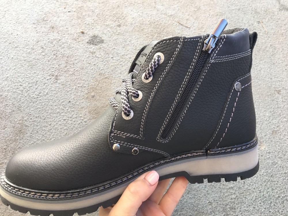 Мужские кожаные ботинки, зима, разные цвета фото №2