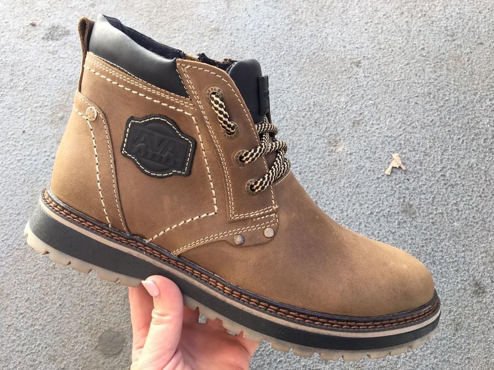 Мужские кожаные ботинки, зима, разные цвета фото №3