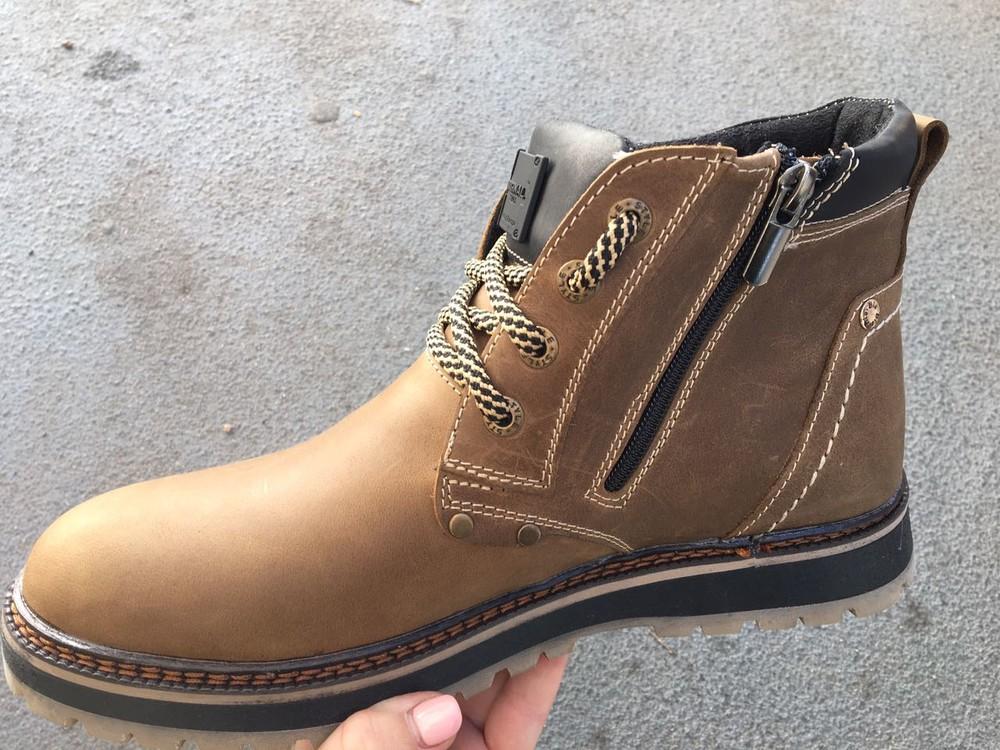 Мужские кожаные ботинки, зима, разные цвета фото №4