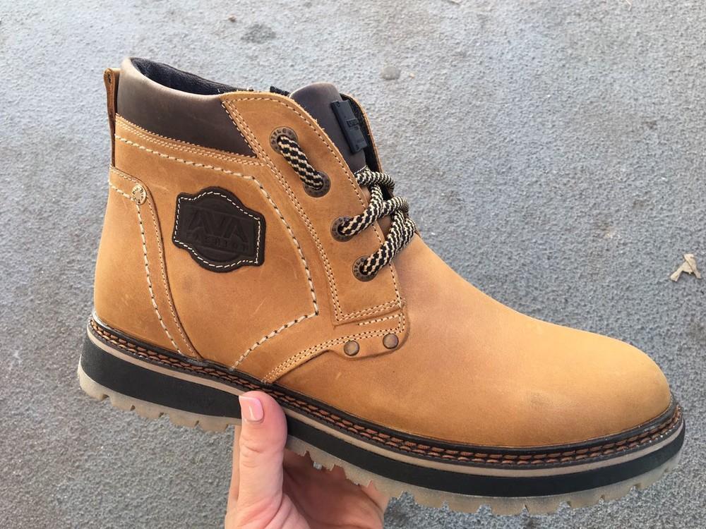 Мужские кожаные ботинки, зима, разные цвета фото №5