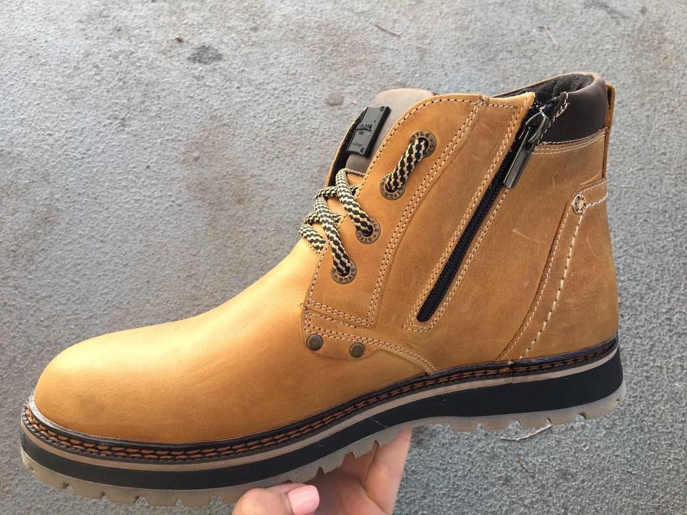 Мужские кожаные ботинки, зима, разные цвета фото №6