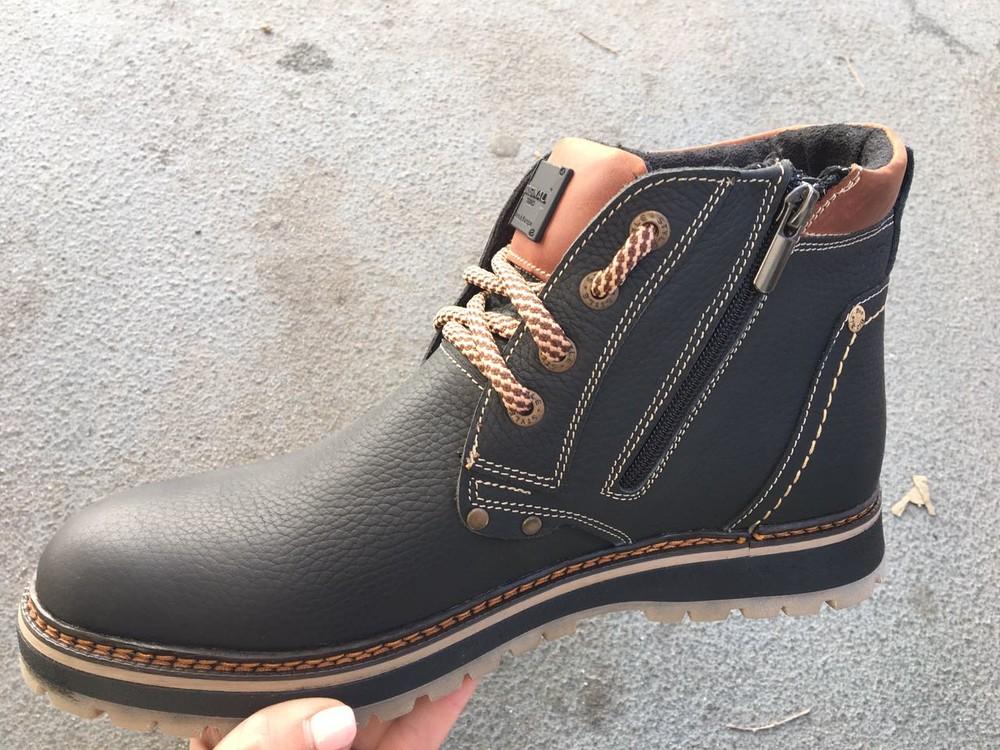 Мужские кожаные ботинки, зима, разные цвета фото №8