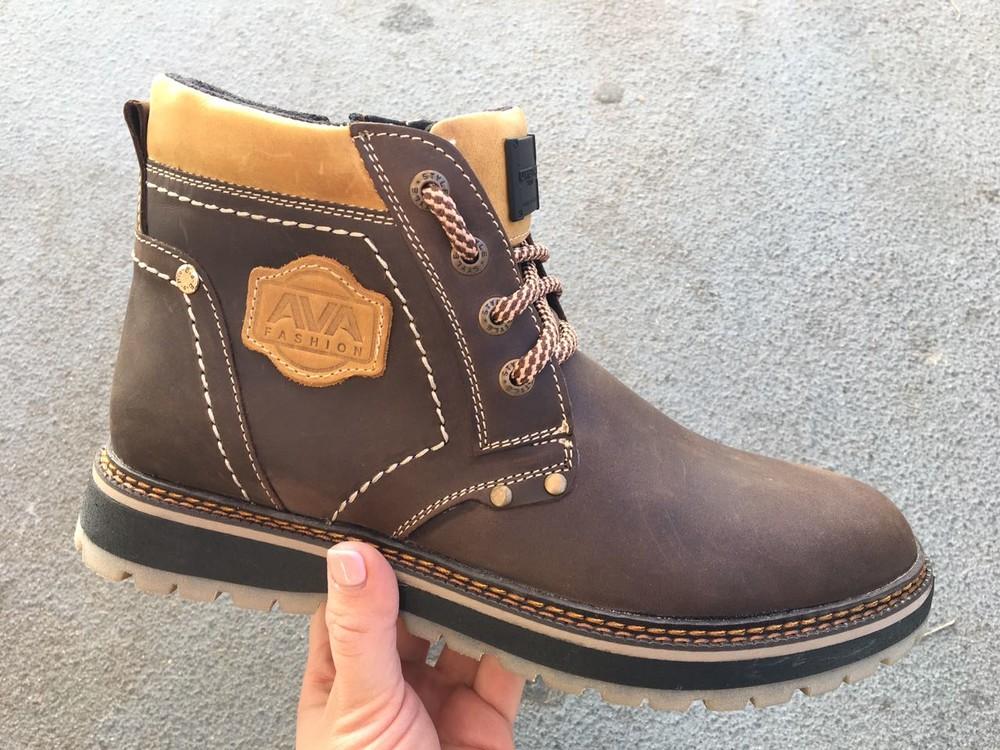 Мужские кожаные ботинки, зима, разные цвета фото №9
