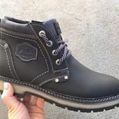 Мужские кожаные ботинки, зима, разные цвета
