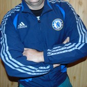 Фирменная стильная спортивная мастерка кофта Adidas Челсі.м-л