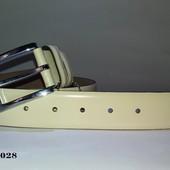 Ремень Кожаный  бел.0028 Италия Доставка бесплатно