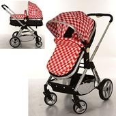 Детская коляска-трансформер Bambi 6811-3,красная