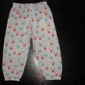 пижамные штаны M&S 18-24 мес 100% х/б состояние отличное