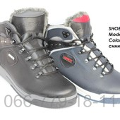 Мужские зимние ботинки, кожа, 2 цвета