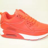 Кроссовки красные с белым