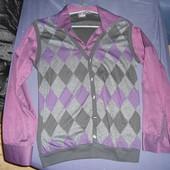 Стильная рубашка с жилеткой