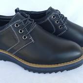 """Туфли черные на мальчика на шнурках, Fashion, С6628, ТМ """"Paliament"""", размеры: 31, 32, 33, 34, 35, 36"""