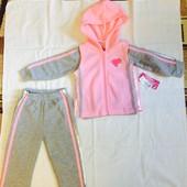 Новый флисовый спортивный костюм тройка, размер 12-18месяцев