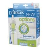 New! Бутылочки для кормления Dr. Brown's Natural Flow® стандарт 250 мл, 3 шт.