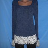 Красивый удлиненный свитер,туника,размер идет на l-xl