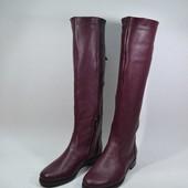 стильные женские сапоги демисезон зима Модель:0508-16, бордовый флотар