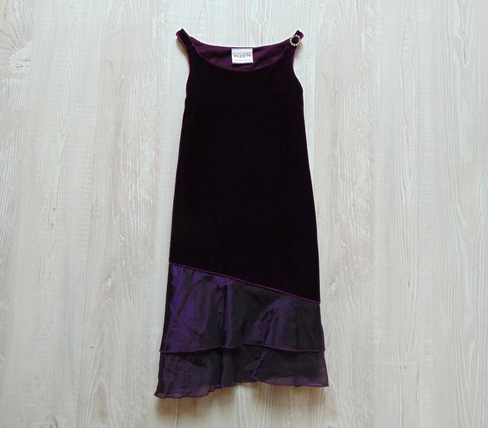 Нарядное велюровое платье для девочки. внутри на подкладке. next. размер 5  лет фото e5bfda6a0bdd1