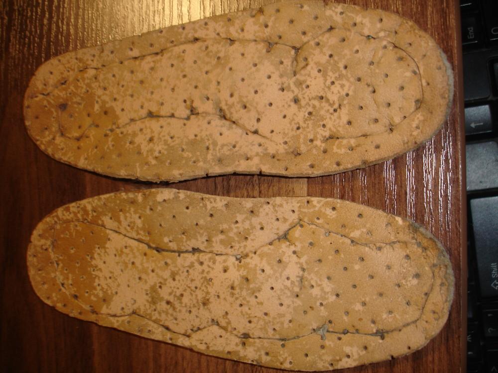 Кожаные ортопедические стельки в обувь на 16,5см 26-27 фото №1